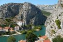 Omiš ústí řeky Cetiny
