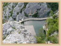 Elektrárna na řece Cetina