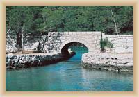 Ostrov Mljet - starý most