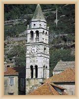 Ostrov Vis - zvonice kostela sv. Cypriána