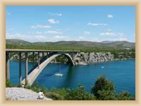 Most přes Krku u Šibeniku