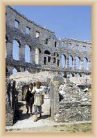 Pula - část římského amfiteátru