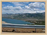Velebit z dálnice na Zadar